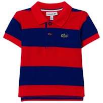 Lacoste Red and Blue Pique Polo WXY