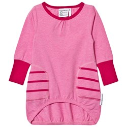 Geggamoja Pocket Dress Pink Mel/st Pink