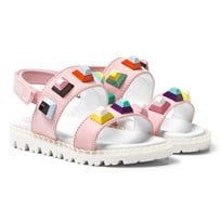 Fendi Pink Multi Stud Sandals F0QD1