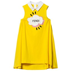 Fendi Yellow Branded Dress