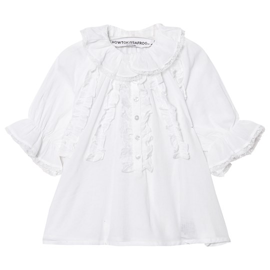 How To Kiss A Frog Mimi Blouse White Voile White voile