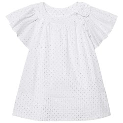How To Kiss A Frog Glory Dress White Silver Dots