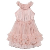 DOLLY by Le Petit Tom Ruffled Chiffon Dance Klänning Ballet Pink Ballet Pink