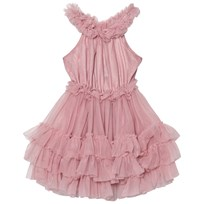DOLLY by Le Petit Tom Ruffled Chiffon Dance Dress Dusty Pink Dusty Pink