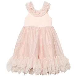DOLLY by Le Petit Tom Pointy Ruffle Dress Ballet Pink