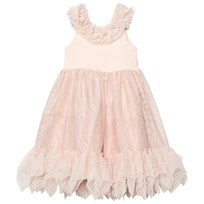 DOLLY by Le Petit Tom Pointy Ruffle Dress Ballet Pink Ballet Pink