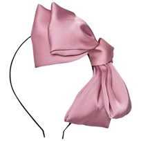 DOLLY by Le Petit Tom Big Hair-Bow Headband Pink Pink