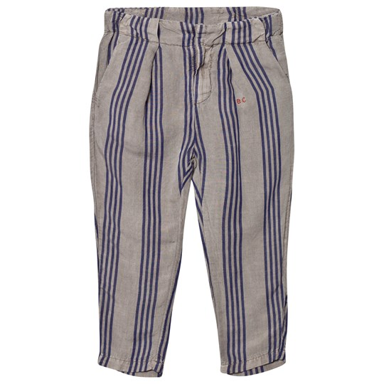 Bobo Choses Striped Chino Trousers Chateau Grey Chateau Gray