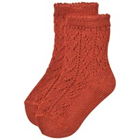 Bobo Choses Baby Short Jacquard Socks Red Clay Red Clay