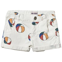 Bobo Choses Basket Ball Denim Shorts Off White Off white