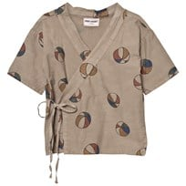 Bobo Choses Basket Ball Kimono Shirt Chateau Grey Chateau Gray