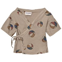 Bobo Choses Basket Ball Baby Kimono Shirt Chateau Grey Chateau Gray