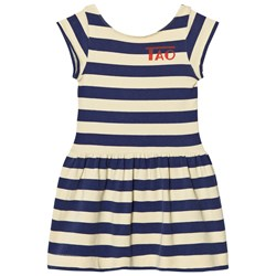 The Animals Observatory Sparrow Dress Soft Yellow Stripes