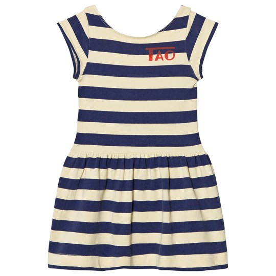 The Animals Observatory Sparrow Dress Soft Yellow Stripes Soft Yellow Stripes
