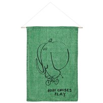 Bobo Choses The Cyclist Wall Banner Mint Mint