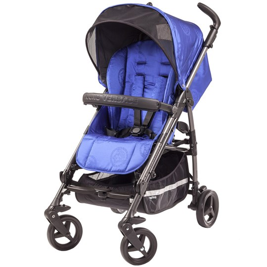 Young Versace Young Versace Jacquard Medusa Stroller Blue Blue