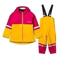 Didriksons Waterman Kids Rain Set Yellow/Fuchsia Yellow/Fus