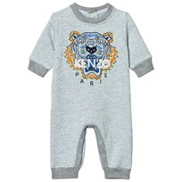 Kenzo Grey Marl Embroidered Tiger Sweat Baby Bodysuit 421