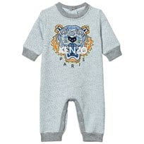 Kenzo Grey Marl Embroidered Tiger Sweat Baby One-Piece 421