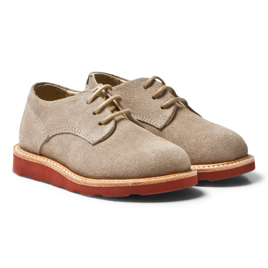 Young Soles Alfie Derby Shoes Stone Suede STONE SUEDE/BRICK