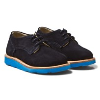 Young Soles Alfie Derby Shoes Navy Suede DARK NAVY SUEDE/TURQUOISE