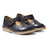 Young Soles Penny T-Bar Navy NAVY LEATHER