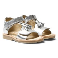 Young Soles Flo Sandals Silver SILVER LEATHER