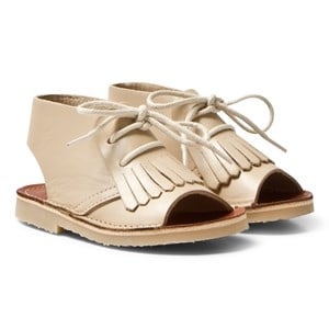 Image of Young Soles Agnes Kilted Boot Sandals Parchment 29 (UK 11) (702337)