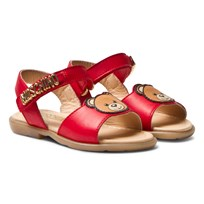 Moschino Kid-Teen Red Vitello Branded Sandals VITELLO ROSSO