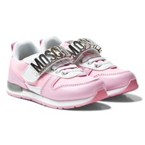 Moschino Kid-Teen Pink Branded Sprint Trainers SPRINT/NYLON ROSA