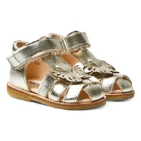 Angulus Gold Butterfly Closed Toe Sandals morgan 1325