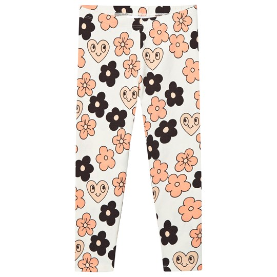 Mini Rodini Flowers Leggings Off White Off white