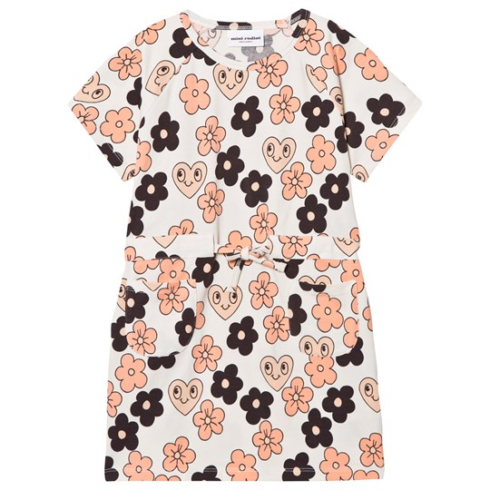 Mini Rodini Flowers Tee Dress Off White Off white