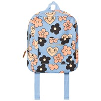 Mini Rodini Flowers Backpack Light Blue Light Blue