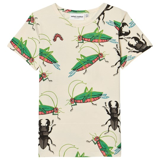 Mini Rodini Insects Short Sleeved Tee Off White 白色
