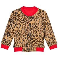 Mini Rodini Leopard Reversible Sweat Jacka Beige