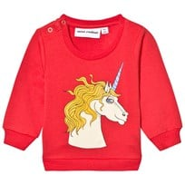 Mini Rodini Unicorn Sweatshirt Röd Red