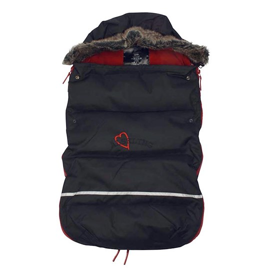 Lundmyr Of Sweden Strollerbag With Faux Fur Multi