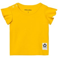 Mini Rodini Solid Rib Wing T-shirt Gul Yellow