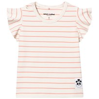 Mini Rodini Solid Rib Wing T-shirt Pink
