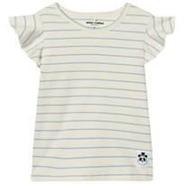 Mini Rodini Stripe Rib Wing T-shirt Light Blue Light Blue