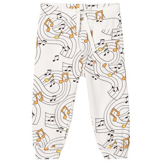 Mini Rodini Music Soft Pants Off White Off white
