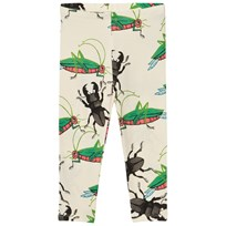 Mini Rodini Insects Leggings Off White Off white