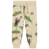Mini Rodini Insects Sweatpants Beige Beige