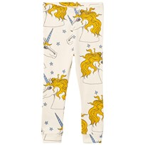 Mini Rodini Unicorn Star Leggings Off White Off white