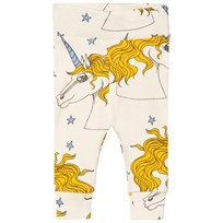 Mini Rodini Unicorn Star Newborn Leggings Off White Off white