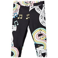 Mini Rodini Melody Fancy Leggings Black Black