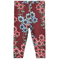 Mini Rodini Daisy Leggings Burgundy Burgundy