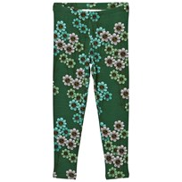 Mini Rodini Daisy Leggings Dark Green dark green
