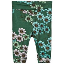 Mini Rodini Daisy Newborn Leggings Dark Green dark green
